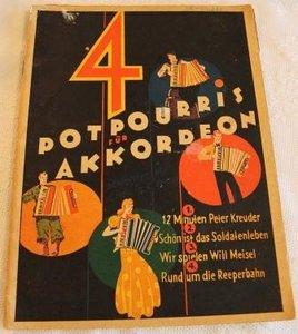 Oud brocante muziekboek 4 Potpourris