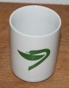 Apothekerspot met groene slang als esculaap