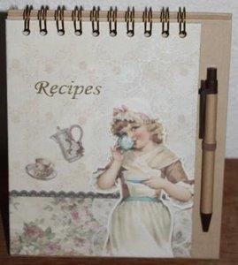 Brocante receptenboek voor eigen recepten