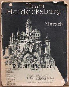 Oud brocante muziekboek Hoch Heidecksburg!
