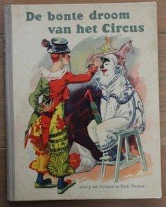 Oud verzamelplaatjes album De bonte droom van het circus jr '50