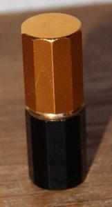 Oude brocante mini aansteker zwart met goud