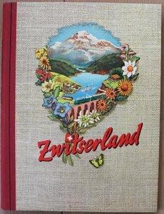 Vintage DE verzamelplaatjes album Zwitserland, Piet Bakker 1956