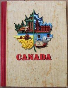 Vintage DE verzamelplaatjes album Canada, Piet Bakker 1955