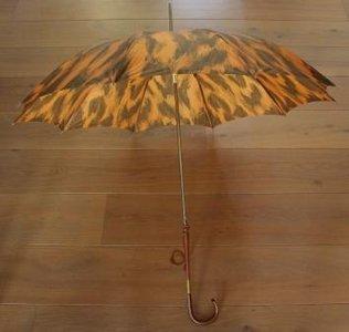 Oude brocante paraplu, sierlijk met hoesje