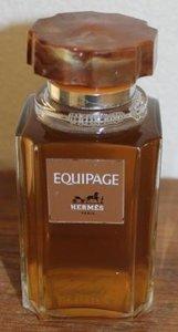 Grote oude parfumfles Equipage Hermès Paris m inhoud