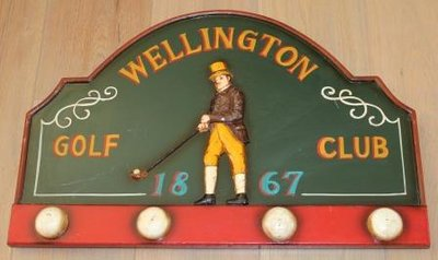Brocante pub wandbord café Wellington Golf Club