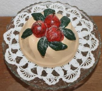 Brocante brooddeeg decoratie tulband appeltaartje