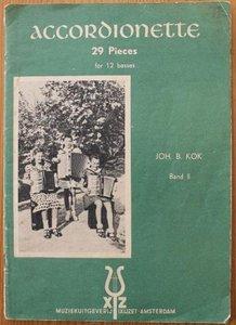 Oud brocante muziekboek Accordionette 29 pieces