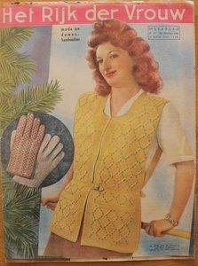 Oud tijdschrift Het Rijk der Vrouw nr 77 van 26/10/1946