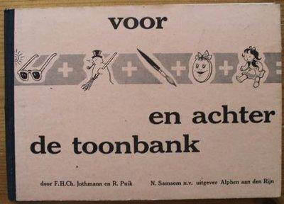 Oud schoolboekje rekenen Voor en achter de toonbank