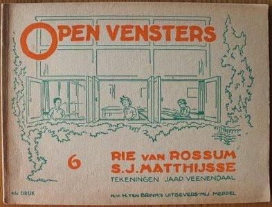 Oud schoolboekje Open vensters deel 6, 4de druk