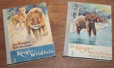 Set oude verzamelalbums De Kruger-Wildtuin in Zuid-Afrika 1953