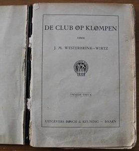 Oud brocante kinderboek De club op klompen