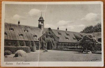 Oude brocante zwart wit foto ansichtkaart Huizen