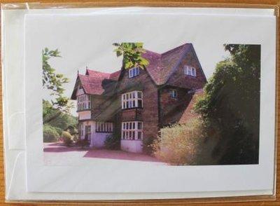 Brocante ansichtkaart Engelse tuin Marle Place onbeschreven