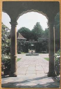Brocante ansichtkaart Engelse tuin Manor House onbeschreven 1