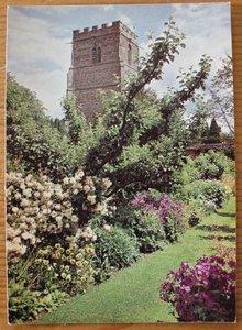 Brocante ansichtkaart Engelse tuin Manor House onbeschreven 2