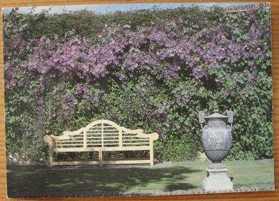 Brocante ansichtkaart Engelse tuin Sissinghurst onbeschreven 2