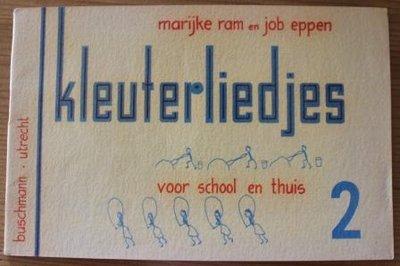 Oud brocante muziekboek Kleuterliedjes 2 school en thuis