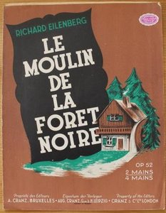 Oud brocante muziekboek Le moulin de la foret noire