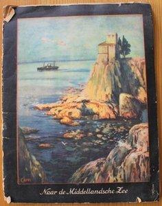 Oud verzamelplaatjes album Een reis naar de Middellandsche Zee 1925