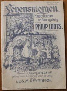Oud brocante muziekboek Levensmorgen Kinderliederen