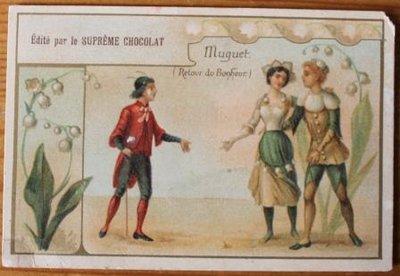 Oud Frans brocante reclamekaartje Suprême Chocolat