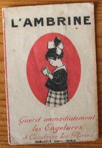 Oude Franse brocante minikalender 1919 apotheek