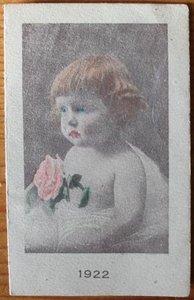 Oude Franse brocante minikalender 1922 reclame