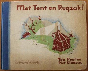 Vintage verzamelplaatjes album Met Tent en Rugzak! HAKA ANWB 1935