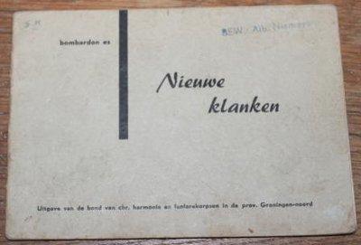 Oud brocante muziekboekje Bombardon Es Nieuwe Klanken