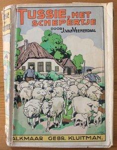 Oud brocante kinderboek Tussie, het schepertje
