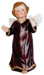 Decoratief beeldje brocante engeltje met papier rol