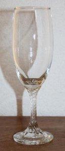 Oud brocante champagne glas gedraaide voet 24 cl