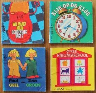 Set v 4 oude brocante Pixi kinderboekjes Leren