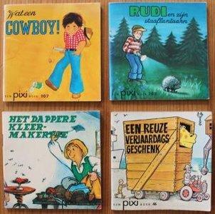 Set v 4 oude brocante Pixi kinderboekjes Jongens