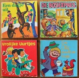 Set of 4 vintage Dutch children's books Pixi A day out