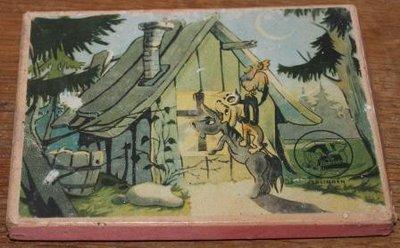 Vintage brocante houten puzzel De Bremer stadsmuzikanten