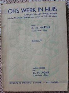 Vintage brocante leerboekje Ons werk in huis en warenkennis 1956