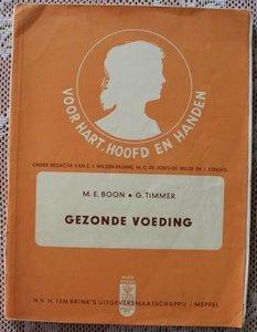 Vintage brocante leerboekje Gezonde voeding