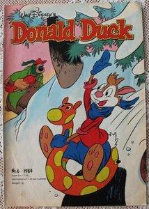 Oud vintage stripboek, weekblad Donald Duck nr. 6 van 1984