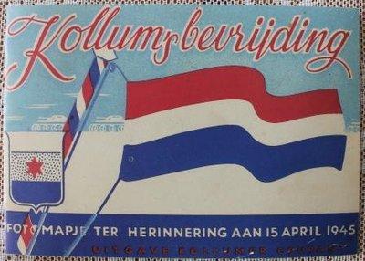 Vintage brocante boekje Kollum's bevrijding fotomapje