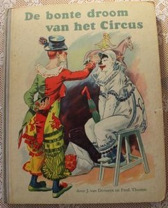 Vintage verzamelplaatjes album De bonte droom van het circus jr '50