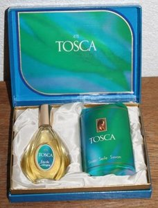 Oude brocante geschenkdoos 4711 Tosca  eau de cologne & zeep