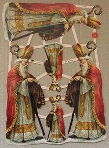 Vel brocante poëzieplaatjes vintage Sinterklaas hobbymateriaal