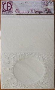 Basispapier 6 st embossed kaarten rond Gravure Design