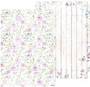 Basispapier achtergrondvel Beautiful Flowers 218 roosjes hout