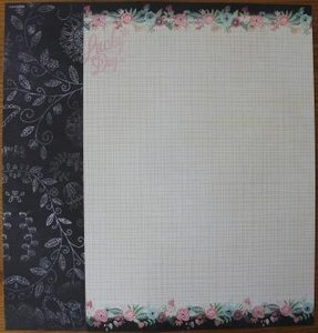 Basispapier achtergrondvel Creative Chalk 191 ruitjes, bloemen, lucky day
