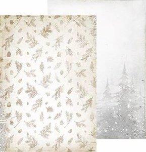 Basispapier achtergrondvel Frozen Forest 225 kerst dennenbomen takjes